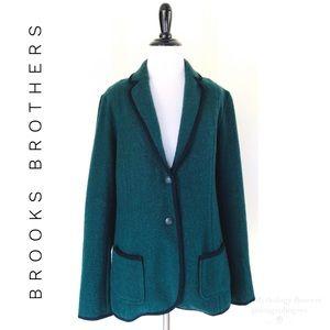 Brooks Brothers Wool Sweater Blazer